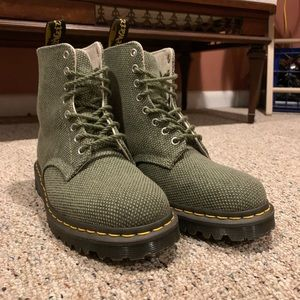 Olive Green Canvas Doc Martens
